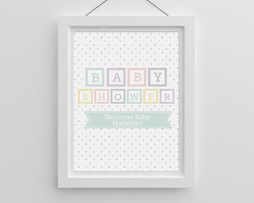 Personalized Baby Blocks Poster (18x24)