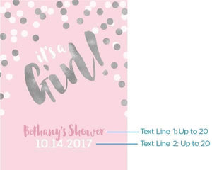 Personalized It's a Girl! Poster (18x24)