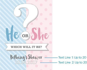 Personalized Gender Reveal Poster (18x24)