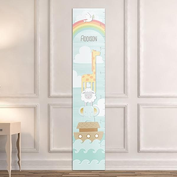 Personalized Noah's Ark Growth Chart