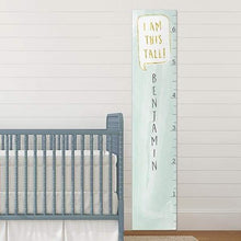 "Load image into Gallery viewer, Personalized ""I Am This Tall"" Mint Growth Chart"