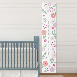Personalized Pretty Posies Growth Chart