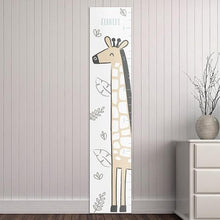 Load image into Gallery viewer, Personalized Safari Giraffe Growth Chart