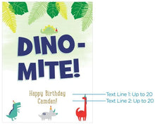 Load image into Gallery viewer, Personalized Dino Party Poster (18x24)