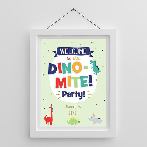 Personalized Dino Party Poster (18x24)
