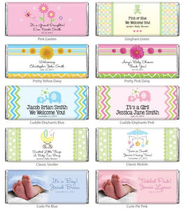 Personalized Baby Hershey's Chocolate 1.55 oz. Bars (Many Designs Available)