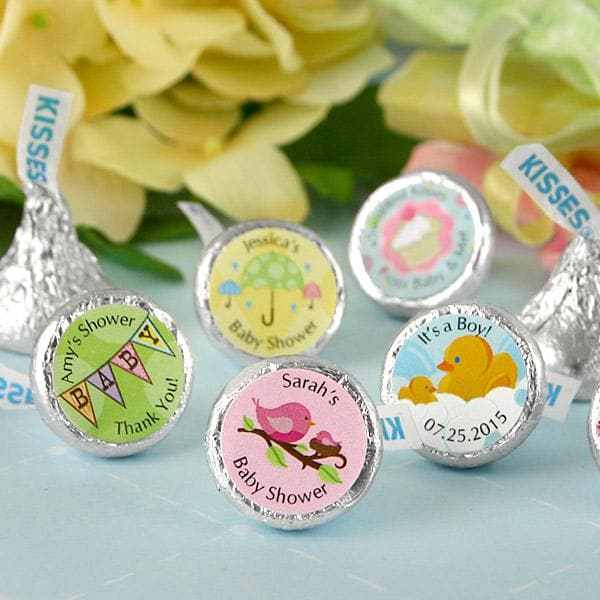 Personalized Baby Colored Foil Hershey's Kisses (Many Designs Available)