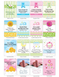 Personalized Baby Tea Favor (Many Designs Available)