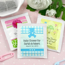 Load image into Gallery viewer, Personalized Baby Tea Favor (Many Designs Available)
