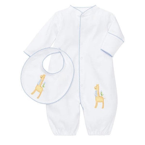 Giraffe Convertible Gown and Bib Set (2 Pieces)