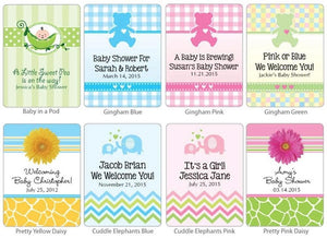Personalized Baby Coffee Favors - Silver or White (Many Designs Available)