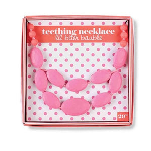 Lil Bauble Pink Teething Necklace