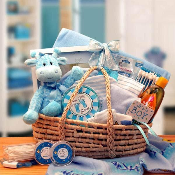 Baby Boy Carrier Gift Basket - Blue