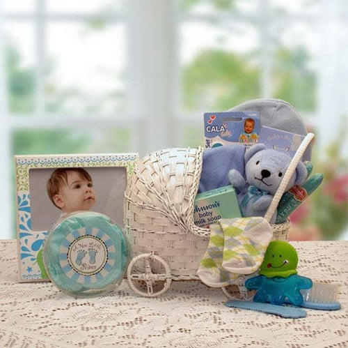 Bundle of Joy Baby Gift Basket - Blue