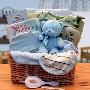 Organic Baby Boy Gift Basket - Blue