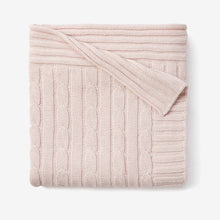Load image into Gallery viewer, My Favorite Blankie Cable Blanket - Pink, Blue or White (Personalization Available)