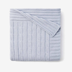 My Favorite Blankie Cable Blanket - Pink, Blue or White (Personalization Available)