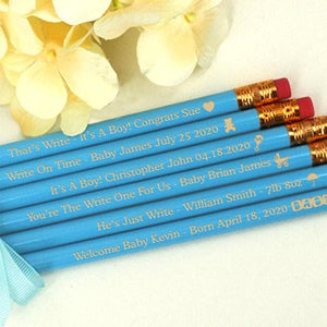 Baby Shower Pencils (Available in Pink or Blue) - Set of 12