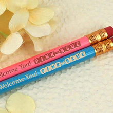 "Load image into Gallery viewer, Gender Reveal ""Pink or Blue"" Personalized Pencils (Set of 2)"