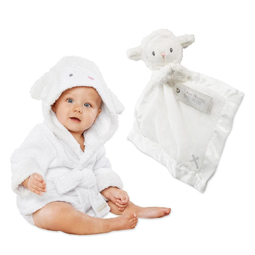 Lamb Gift Set with Hooded Spa Robe & Lamb Lovie