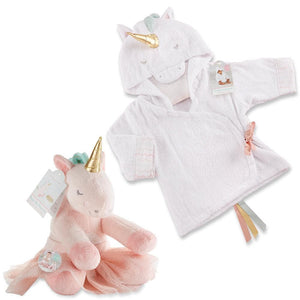 Unicorn Gift Set with Unicorn Hooded Spa Robe & Plush