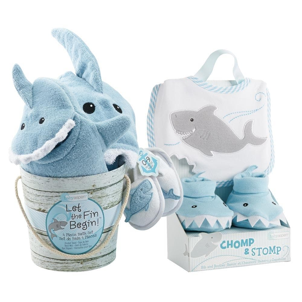 Shark 6-Piece Baby Gift Set - Blue