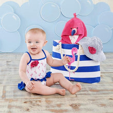 Load image into Gallery viewer, Flamingo 4-Piece Nautical Gift Set with Canvas Tote for Mom