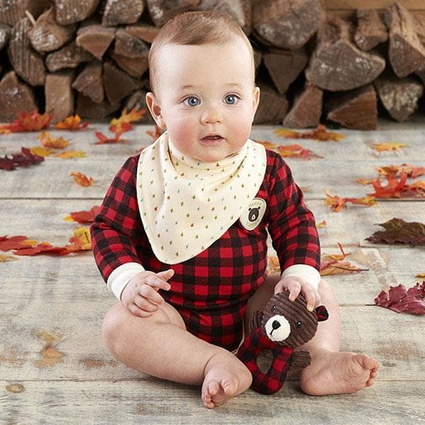 Happy Camper 3 Piece Gift Set (Red Plaid)