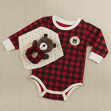 Load image into Gallery viewer, Happy Camper 3 Piece Gift Set (Red Plaid)