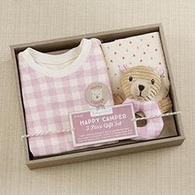 Load image into Gallery viewer, Happy Camper 3 Piece Gift Set (Pink Plaid)