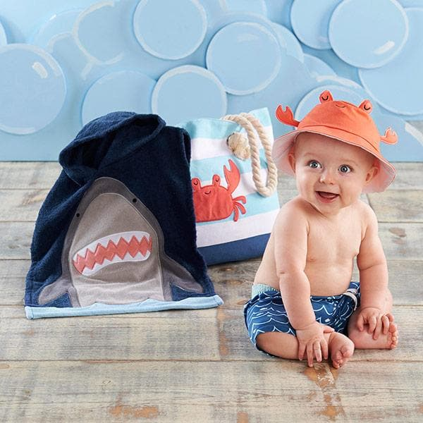 Shark 4-Piece Beach Gift Set with Canvas Tote for Mom