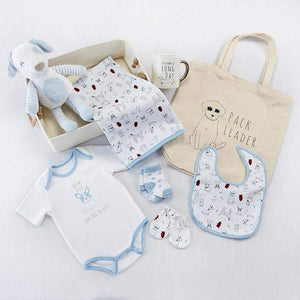 New Pup 9-Piece Baby Gift Basket (Personalization Available)