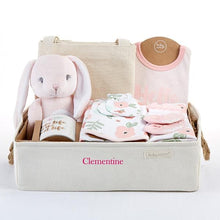 Load image into Gallery viewer, Fancy Floral 9-Piece Baby Gift Basket (Personalization Available)