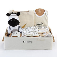 Load image into Gallery viewer, Safari 9-Piece Baby Gift Basket (Personalization Available)