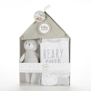 Beary Cute 5-Piece Welcome Home Gift Set (Gray)