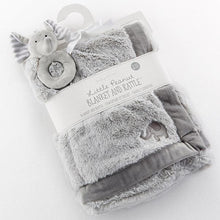 Load image into Gallery viewer, Little Peanut Elephant Blanket and Rattle Set
