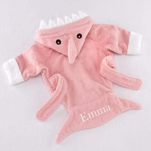 Let the Fin Begin Pink Shark Robe (0-9m) (Personalization Available)