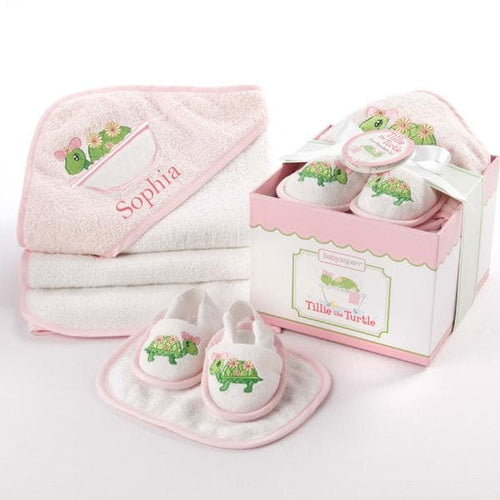 Tillie the Turtle 4-Piece Bathtime Gift Set (Personalization Available)