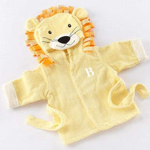 Load image into Gallery viewer, Big Top Bath Time Lion Hooded Spa Robe (Personalization Available)