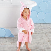 Load image into Gallery viewer, Let the Fin Begin Pink Shark Robe (12-18m) (Personalization Available)