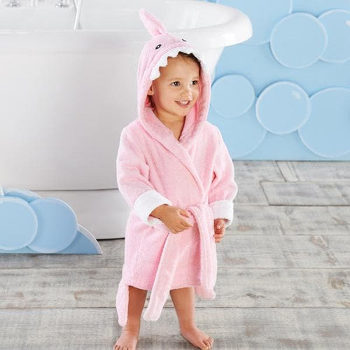 Let the Fin Begin Pink Shark Robe (12-18m) (Personalization Available)