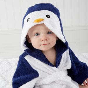 Wash & Waddle Penguin Hooded Spa Robe (Personalization Available)