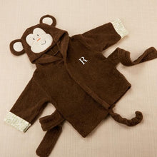 Load image into Gallery viewer, Born to be Wild Monkey Hooded Spa Robe (Personalization Available)