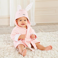 Load image into Gallery viewer, Baby's Bathtime Bunny Hooded Spa Robe (Personalization Available)