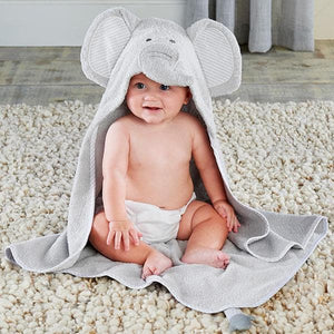Safari Gift Set with Elephant Hooded Towel & 4-Pair Sock Set