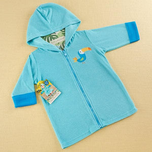 Tropical Toucan Hooded Beach Zip Up (Personalization Available)