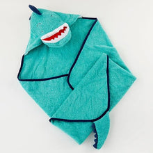 Load image into Gallery viewer, Dino Baby T-Rex Hooded Towel