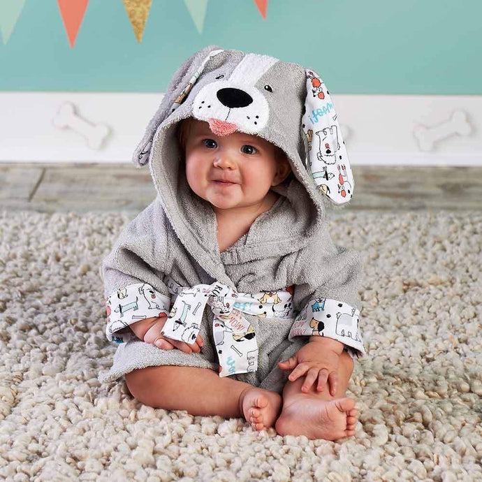 Puppy Hooded Robe (Personalization Available)
