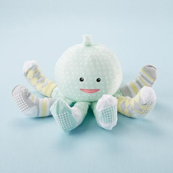 Sock T. Pus™ Octopus Plush Plus™ Four Pairs of Socks for Baby (Mint)
