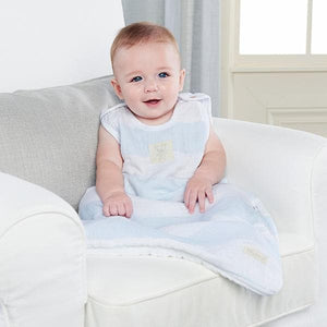 Sweet Snuggles Muslin Wearable Blanket (Blue)